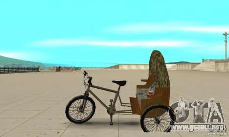 Manual Rickshaw v2 Skin2 para GTA San Andreas left