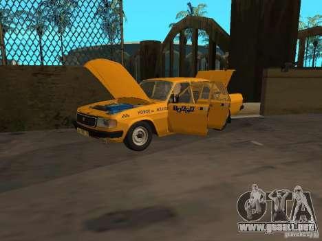 GAZ 31029 Taxi para la visión correcta GTA San Andreas