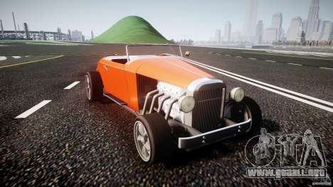 Hot Rod para GTA 4 vista hacia atrás