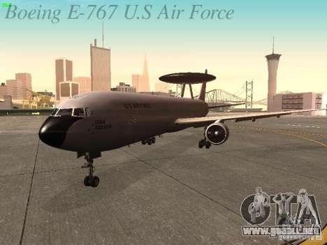 Boeing E-767 U.S Air Force para GTA San Andreas left