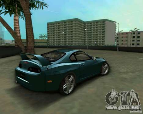 Toyota Supra para GTA Vice City vista lateral izquierdo