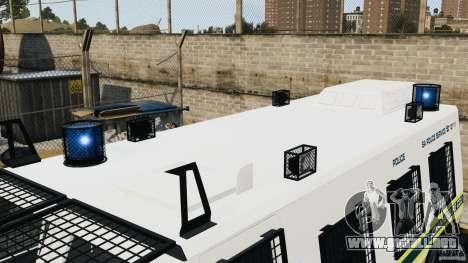 RG-12 Nyala - South African Police Service para GTA 4 vista interior