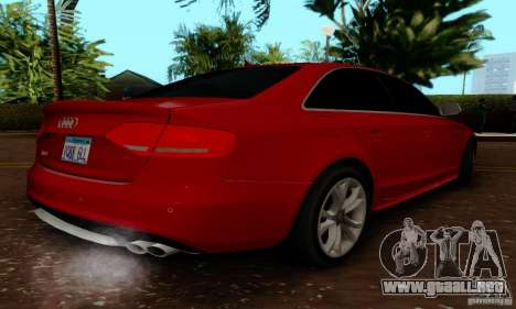Audi S4 2010 para GTA San Andreas vista hacia atrás