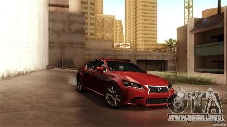 Lexus GS350F Sport 2013 para visión interna GTA San Andreas