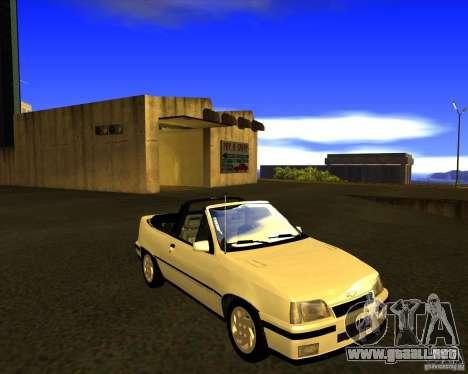 Chevrolet Kadett GSI 2.0 Conversivel (1991-1995) para GTA San Andreas vista hacia atrás