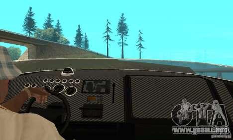 GTAIV TBOGT Blade para GTA San Andreas vista hacia atrás