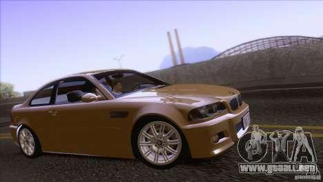 BMW M3 E48 para GTA San Andreas vista hacia atrás