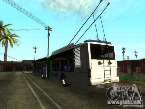Trolebús LAZ E301 para GTA San Andreas vista hacia atrás