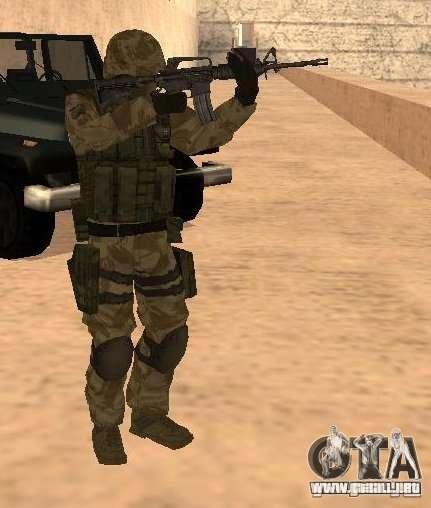 Ranger Army Skin Mod para GTA San Andreas segunda pantalla