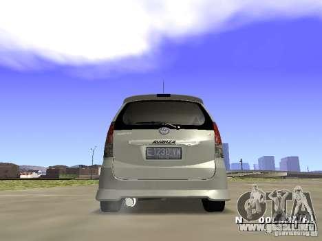 Toyota Avanza Street Edition para GTA San Andreas left