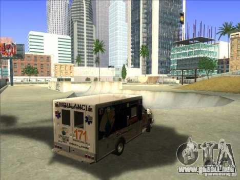 Ford E-350 Ambulance para la visión correcta GTA San Andreas