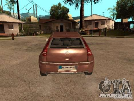 Citroen C4 para GTA San Andreas vista hacia atrás