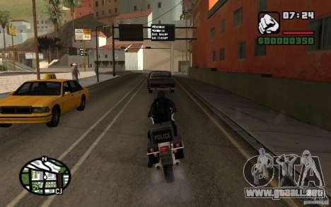 Blackwatch del prototipo para GTA San Andreas sucesivamente de pantalla