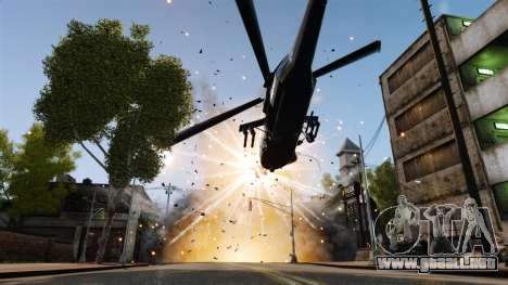 Un helicóptero con un RPG para GTA 4 vista hacia atrás
