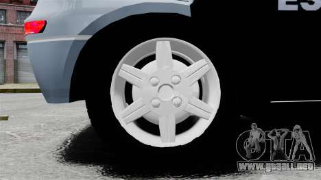 Chevrolet Corsa 2012 PMESP ELS para GTA 4 vista hacia atrás