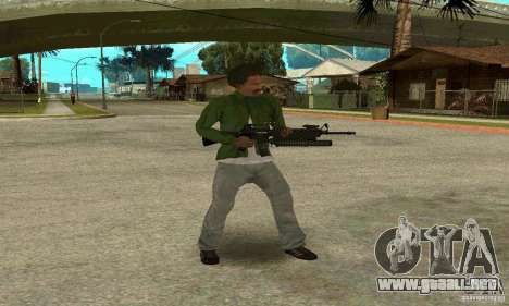M16A4 + M203 para GTA San Andreas sucesivamente de pantalla