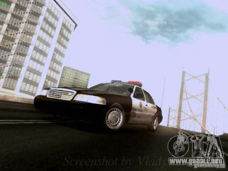 Ford Crown Victoria Los Angeles Police para GTA San Andreas left