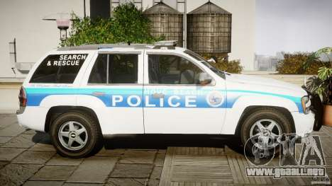 Chevrolet Trailblazer Police V1.5PD [ELS] para GTA 4 vista interior