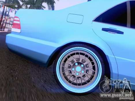 Mercedes-Benz S-Class W140 para vista inferior GTA San Andreas