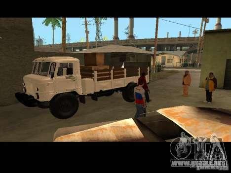 GAZ 66 desfile para GTA San Andreas vista hacia atrás