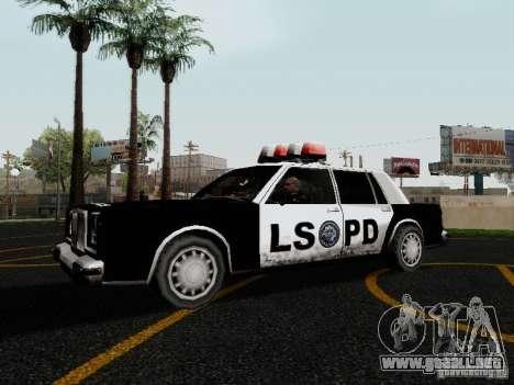 Greenwood Police LS para GTA San Andreas left