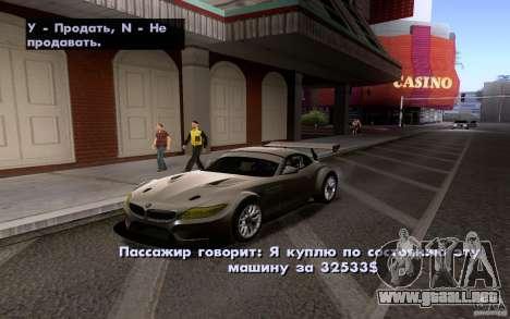 Autos clásicos en venta hacia fuera para GTA San Andreas segunda pantalla