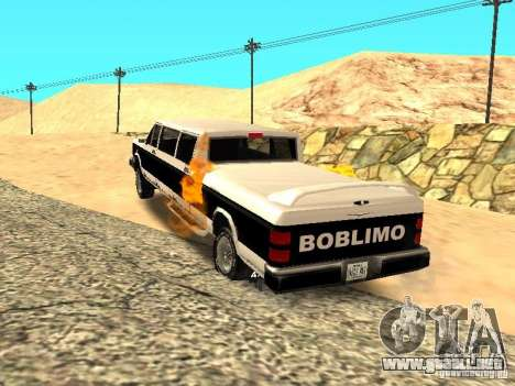 BOBCAT Limousine para GTA San Andreas vista posterior izquierda