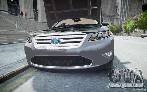 Ford Taurus SHO 2010 para GTA 4 visión correcta