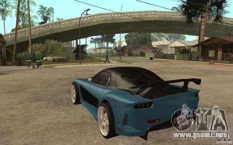 Mazda RX 7 VeilSide para GTA San Andreas vista hacia atrás