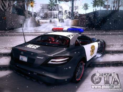 Mercedes-Benz SRL 722 Police para GTA San Andreas left