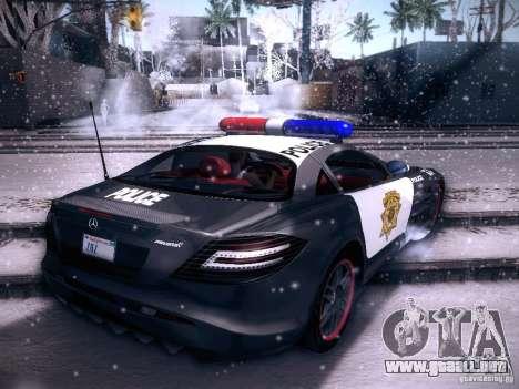 Mercedes-Benz SRL 722 Police para GTA San Andreas left