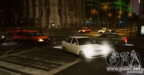 Lada Priora Dag Style para GTA 4 Vista posterior izquierda