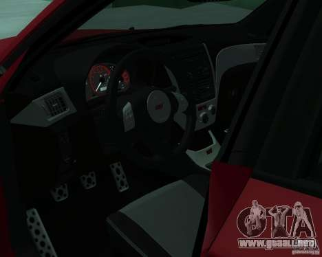 Subaru Impreza WRX STI Stock para GTA San Andreas vista posterior izquierda