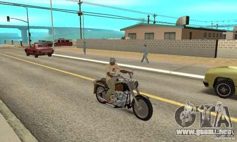Harley Davidson FLSTF (Fat Boy) v2.0 Skin 3 para la visión correcta GTA San Andreas