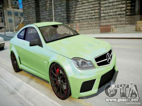 Mercedes-Benz C63 AMG Black Series 2012 v1.0 para GTA 4 vista interior