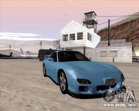 Mazda RX7 2002 FD3S SPIRIT-R (Type RS) para GTA San Andreas vista hacia atrás