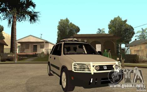 Honda CRV 1997 para GTA San Andreas vista hacia atrás