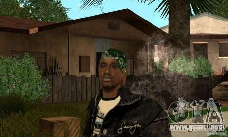 filas de piel 1 Grove para GTA San Andreas tercera pantalla