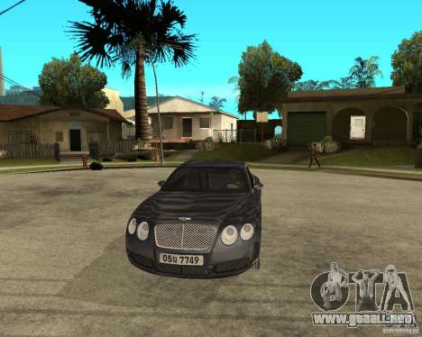 Bentley Continental GT para GTA San Andreas vista hacia atrás