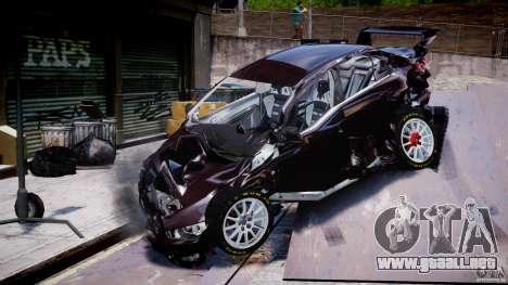 Mitsubishi Lancer X para GTA 4 vista desde abajo
