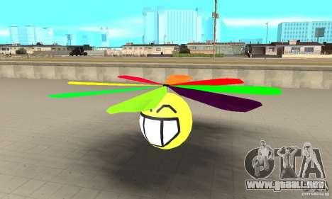 Smiley en el cielo para GTA San Andreas