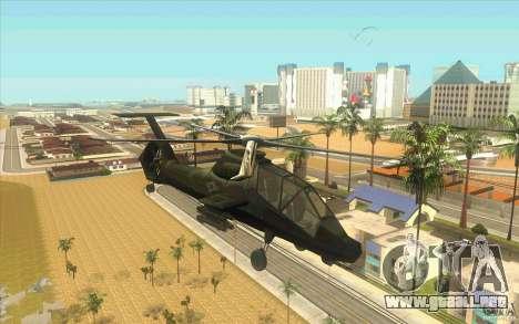 Sikorsky RAH-66 Comanche stealth green para GTA San Andreas
