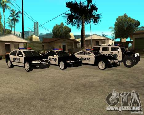 GTA San Andreas SAPD POLICE PACK para GTA San Andreas vista posterior izquierda