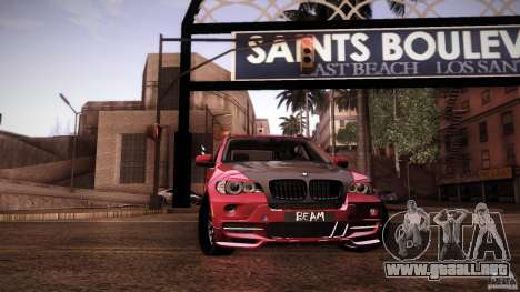 BMW X5 with Wagon BEAM Tuning para GTA San Andreas interior