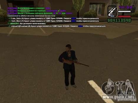 SA-MP 0.3x Client para GTA San Andreas sucesivamente de pantalla