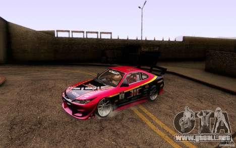 Nissan Silvia S15 Drift Style para vista inferior GTA San Andreas