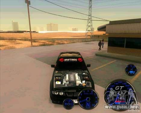 BMW E34 V8 - Darius Balys para GTA San Andreas vista posterior izquierda
