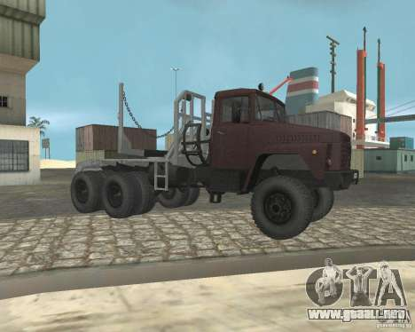 Portador de madera KrAZ-255 para la visión correcta GTA San Andreas