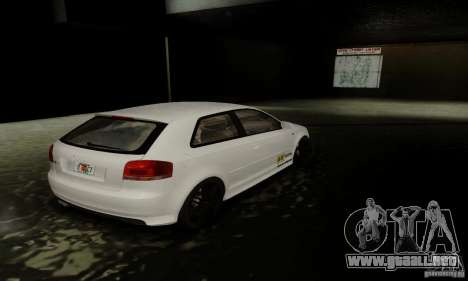Audi S3 para vista inferior GTA San Andreas
