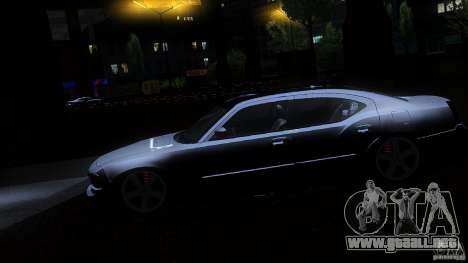 Dodge Charger RT 2010 para vista lateral GTA San Andreas